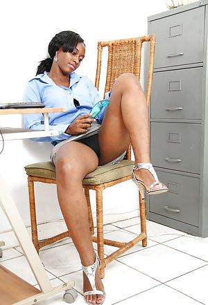 black girl office -